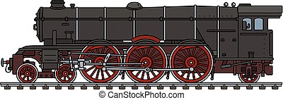 clássicas, pretas, locomotiva, vapor