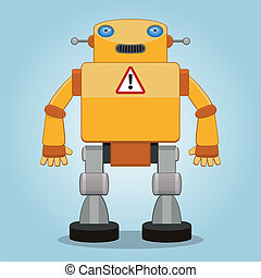 clássicas, robô, 2