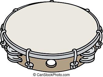 clássicas, tambourine, madeira