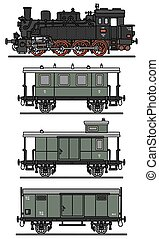 clássicas, trem vapor
