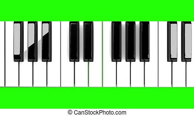 clã©, clavier piano, chroma, vert