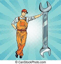 clé, mécanicien