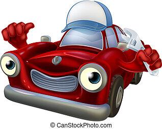 clé, mécanicien voiture