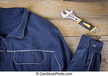 clé, vêtements travail, réglable