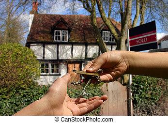 clés, à, les, petite maison