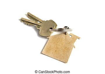 clés, à, nouvelle maison