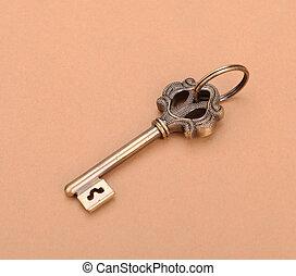 clés antiques, table bois