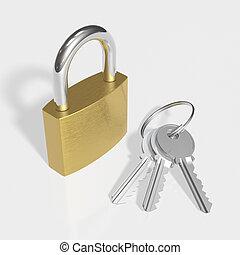 clés, cadenas
