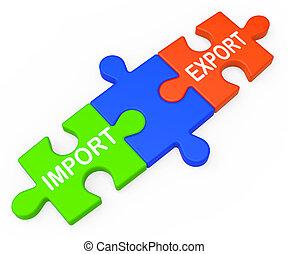 clés, commercer, exportation, importation, international, spectacles