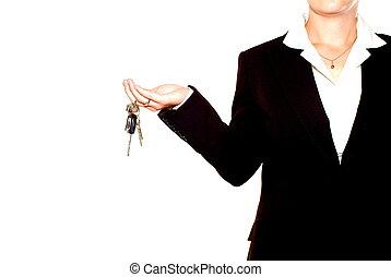clés, femme