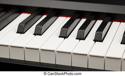 clés, ivoire, piano, ébène, grandiose