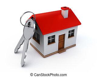 clés, maison