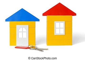 clés, maisons