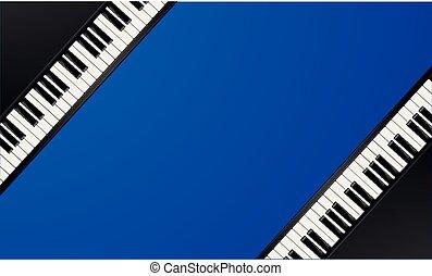 clés, piano, cadre