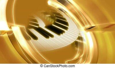 clés, piano