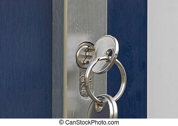 clés, poignée de porte