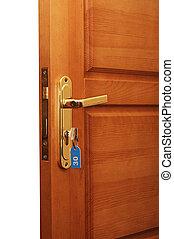 clés, porte ouverte