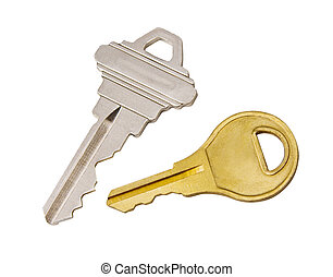 clés, sentier, coupure