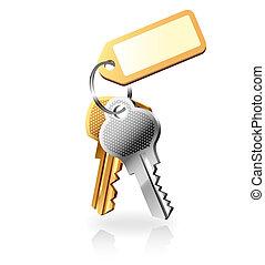 clés, tas