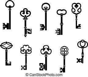clés, vendange, vieux