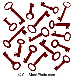 clés, vieux, collection