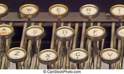 clés, visible, modèle, vieux, machine écrire
