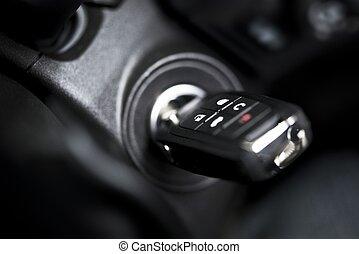 clés, voiture, éloigné