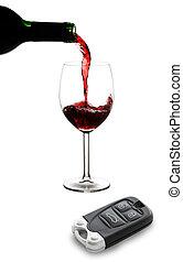 clés, voiture, alcool