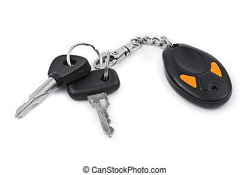 clés, voiture, contrôle, éloigné