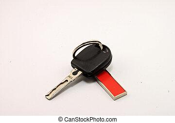 clés, voiture