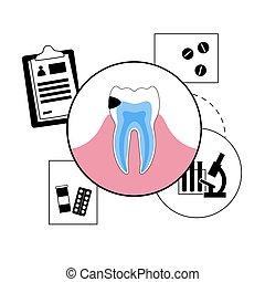 clínica, dental, concepto