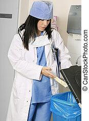 clínico, disposição desperdiçada