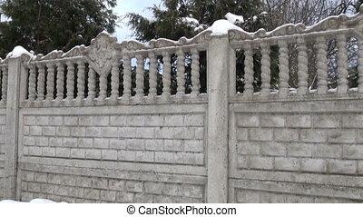 clôture pierre