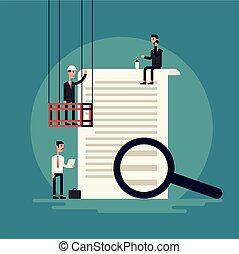 Claim Form Flat Illustration