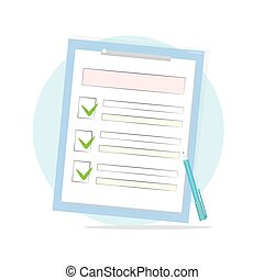 Claim form with pen and checklist icon.