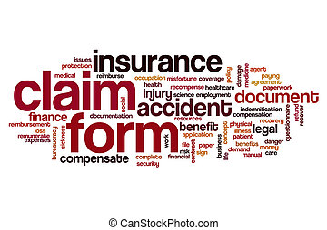 ... Claim Form Word Cloud Concept