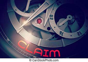 Claim on the Automatic Wristwatch Mechanism. 3D.