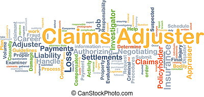 Claims adjuster background concept - Background concept...