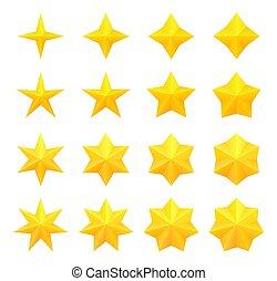 clair, étoiles, collection
