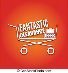 clair, achats, fond, charrette