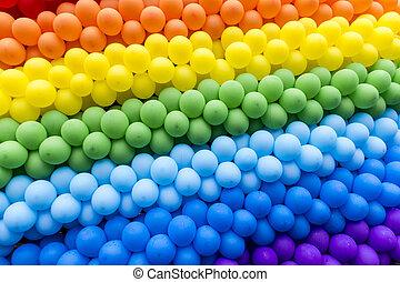 clair, ballons, coloré