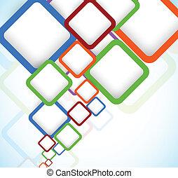 clair, carrés, coloré, fond