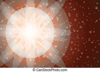 clair, conception, lumière, fond, orange