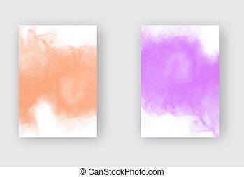 clair, ensemble, aquarelle, fond, coloré, vecteur