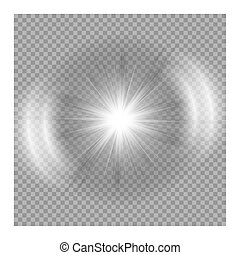 clair, explosion, étoile