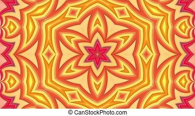 clair, fait boucle, cyclically., animation., mouvement, lisser, raies, seamless, 1, géométrie, 4k., fond, 3d, dessin animé, créatif, style., résumé, simple, kaléidoscope