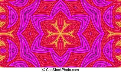 clair, fait boucle, cyclically., animation., mouvement, lisser, raies, seamless, géométrie, 4k., 5, fond, 3d, dessin animé, créatif, style., résumé, simple, kaléidoscope