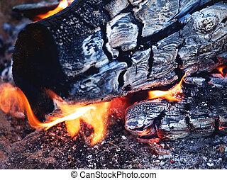 clair, flamme, feu