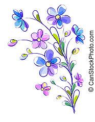 clair, fleurs, fond, vertical, violet