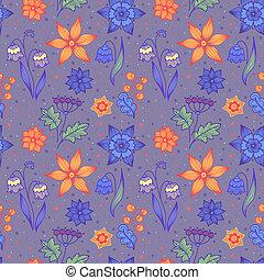 clair, fleurs, rayé, seamless